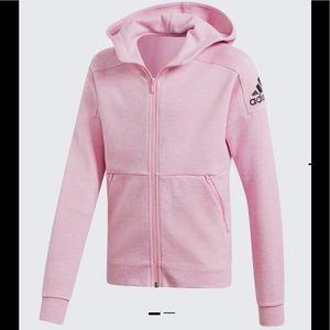 Adidas Size S Girl's ID Stadium Hooded Rack Jacket